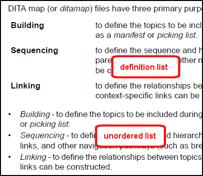 Types of lists for Lits definition