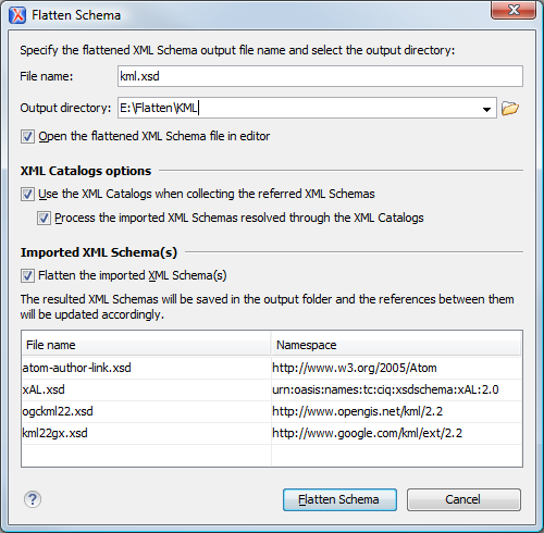 Flatten an XML Schema