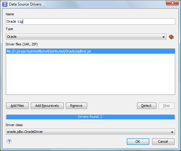 How to Configure Oracle 11g Data Source Drivers