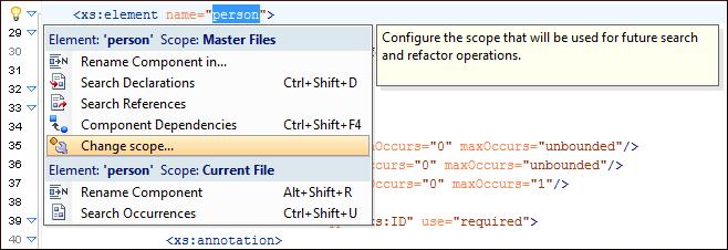 XML Schema Quick Assist Support