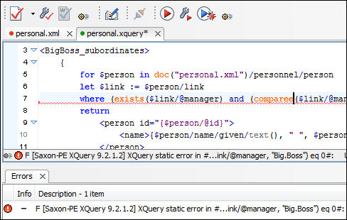 XQuery validation