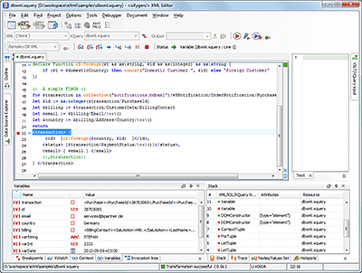 XQuery Debugging Interface