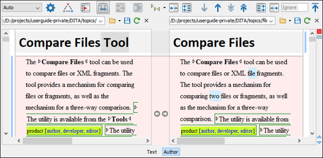 Oxygen Compare and Merge Tools