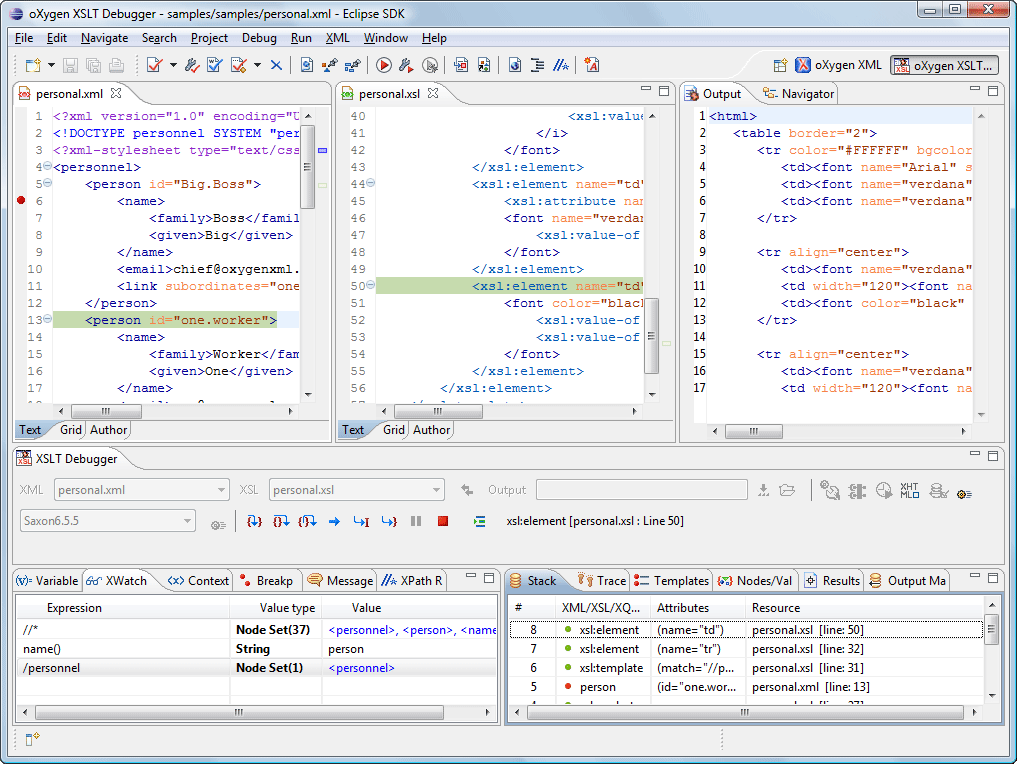 Oxygen XML Plugin for Eclipse