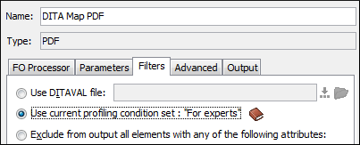 Applying a Profiling Condition set when generating PDF output.