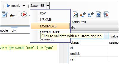 Fichier xml validating