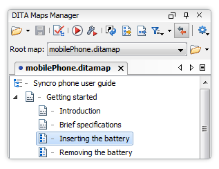 DITA Maps Manager
