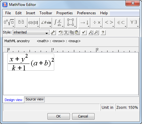 Mathml Equation Editor
