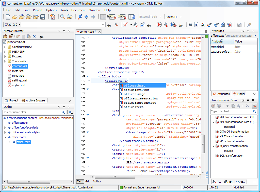 Open document format odf oxygen xml editor - Office open xml format or open document format ...