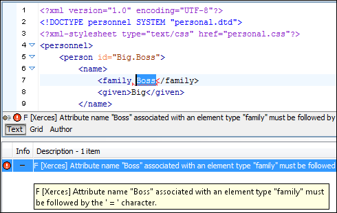 XML Validation and Well-Formedness Check