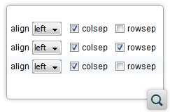 Support for the CALS colsep and rowsep Attributes