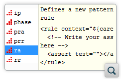 Custom Schematron Code Templates