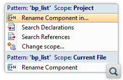 Search and Refactoring Actions for Schematron Components