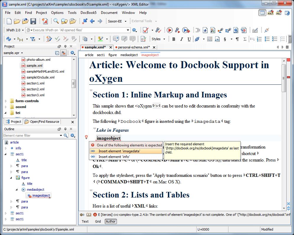 Oxygen XML Editor 16 1