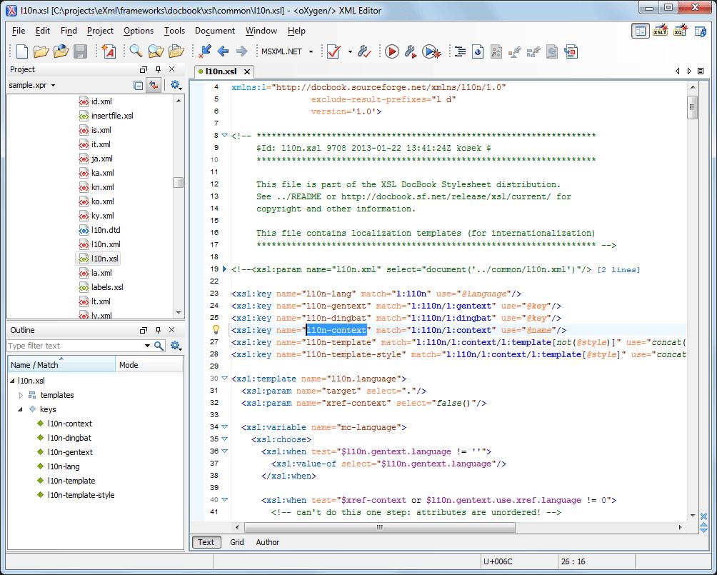 Oxygen xml developer key generator