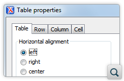 Support for Editing DITA Table Properties