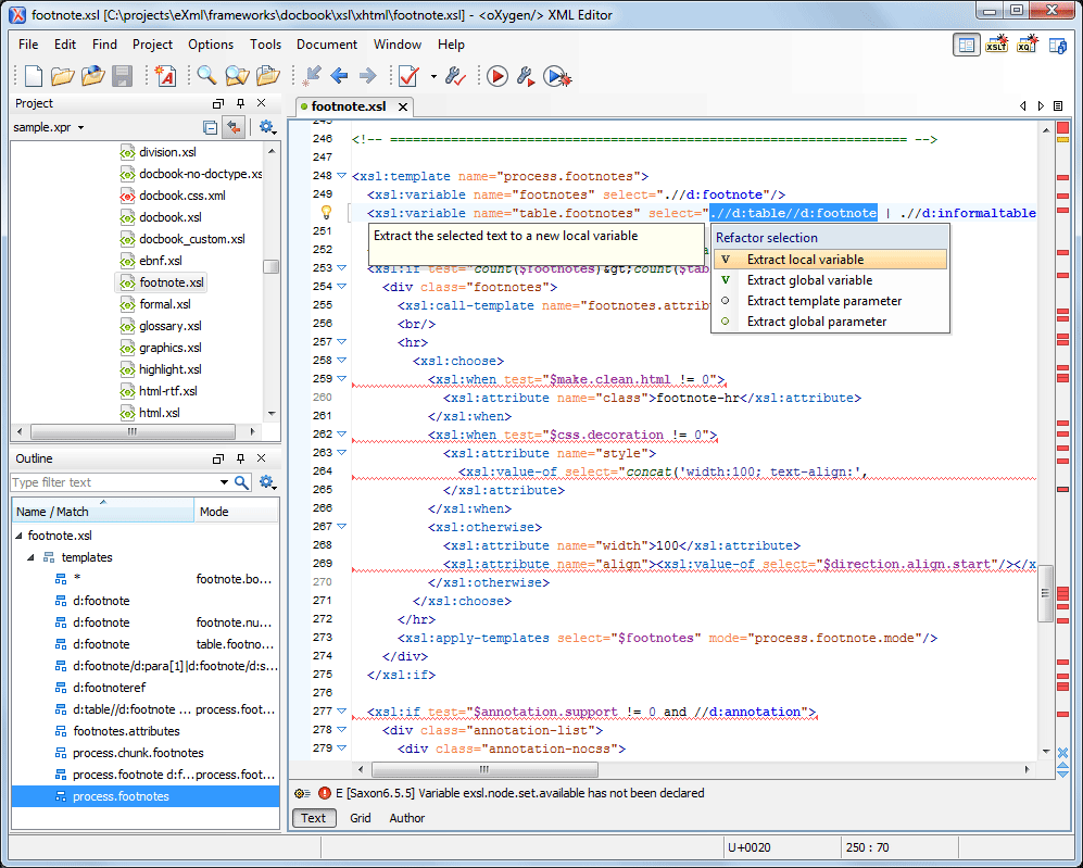 Xsl Ann Oxygen Xml Editor 16 Adds Xslt Quick Fixes Suppo