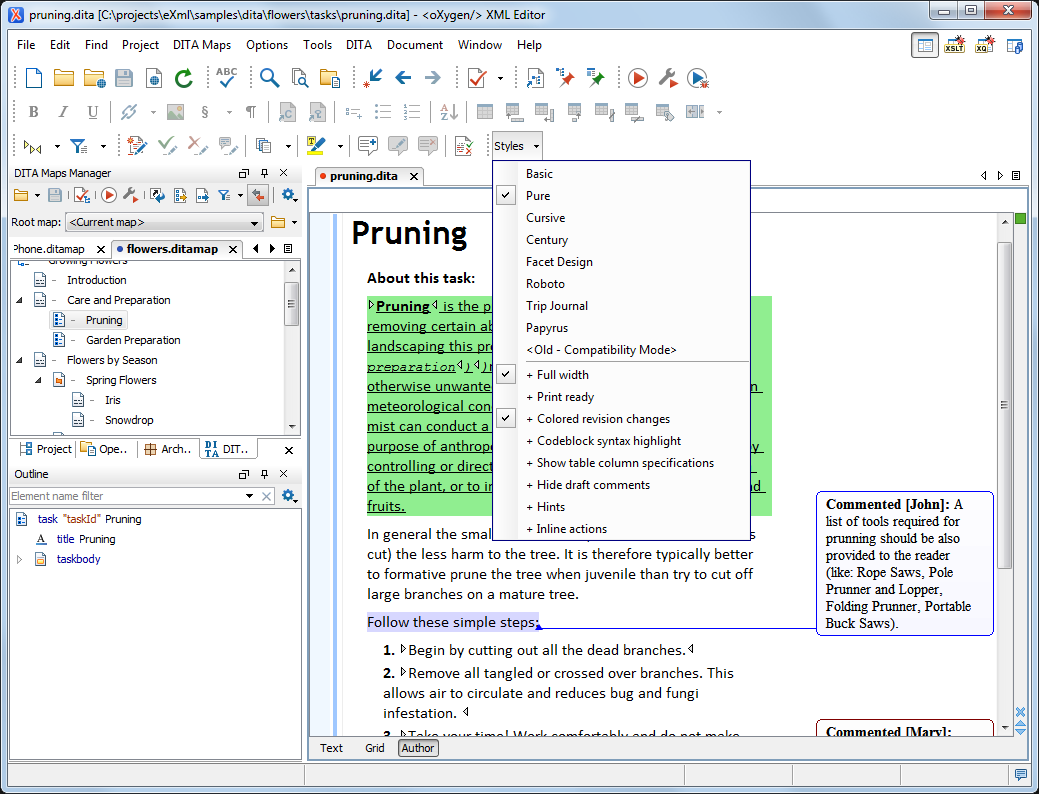 How to use oxygen xml editor