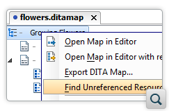 Find Unreferenced Resources in DITA Projects