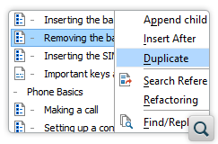New Action for Duplicating Topics