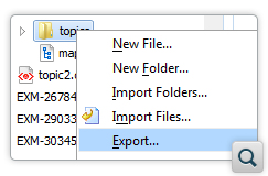 Export Action Added to the Data Source Explorer View