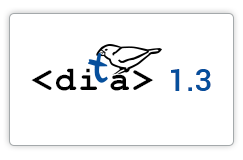 DITA 1.3 Official Support