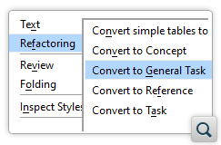 Convert To General Task