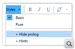 Alternate Style for Hiding Prolog Section