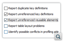 Report Unreferenced Key Definitions