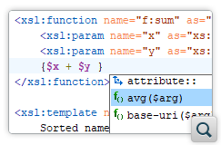 XPath Content Completion Support in Text Value Templates