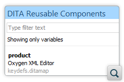Improvements to DITA Reusable Components View