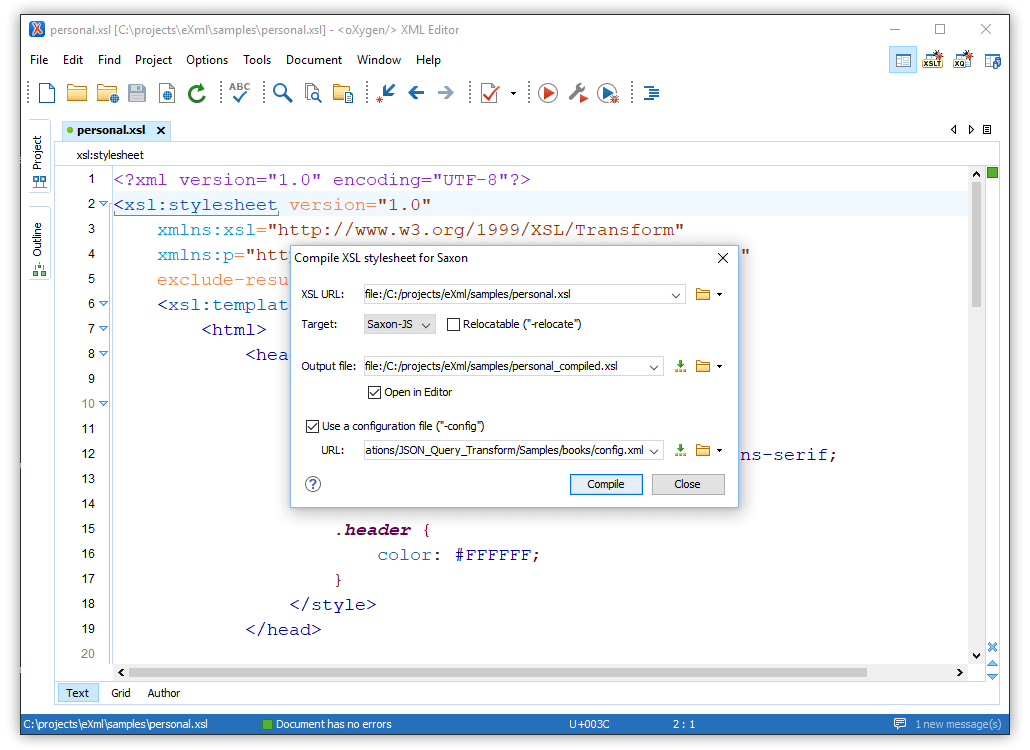 What's New in Oxygen XML Editor 21 0