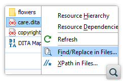 Locate Find/Replace in Files Matches in the Author Visual Editing Mode