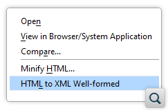 Action to Make HTML Documents XML Well-formed