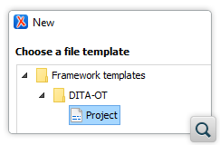 Support for the DITA-OT Project Configuration File