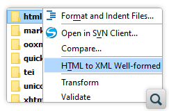 Batch Convert HTML to Well-formed XML