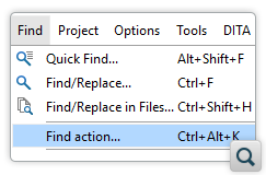 Quickly Find and Invoke Actions