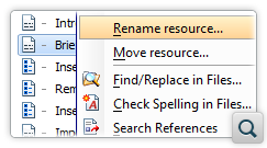 Move or Rename a Topic Referenced in the DITA Maps Manager View