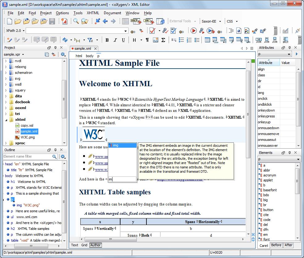 Xhtml редактор