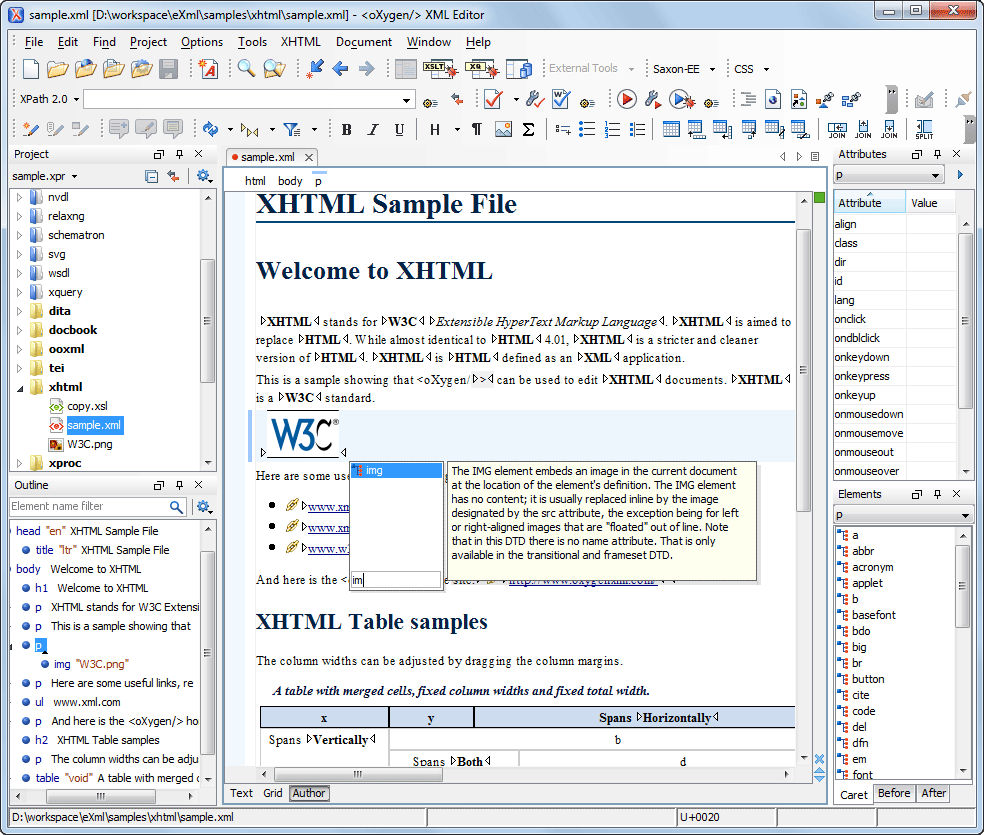Visual XHTML Editor