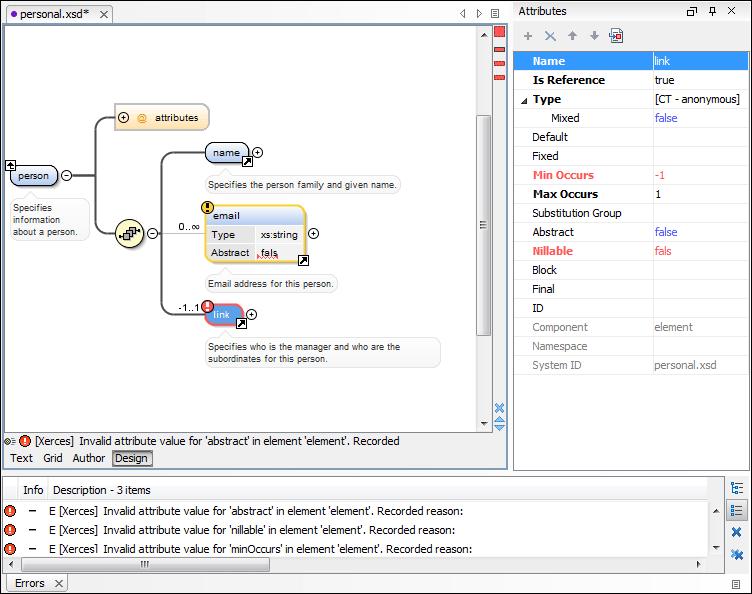 Visual xml schema diagram editor design mode xml schema validator ccuart Choice Image