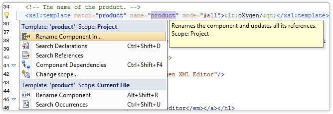XSLT Search and Refactoring